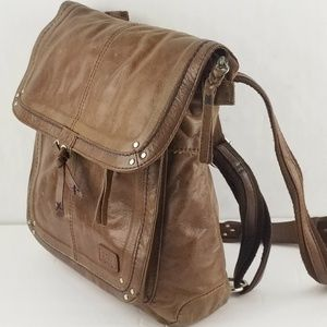 The Sak Distress Leather Convertible Backpack Bag